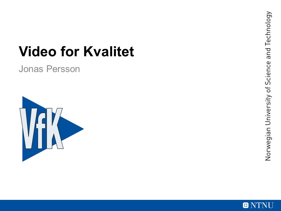 Video for Kvalitet Jonas Persson