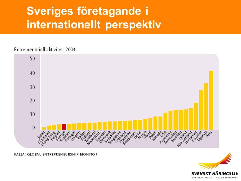 Sveriges företagande i internationellt perspektiv