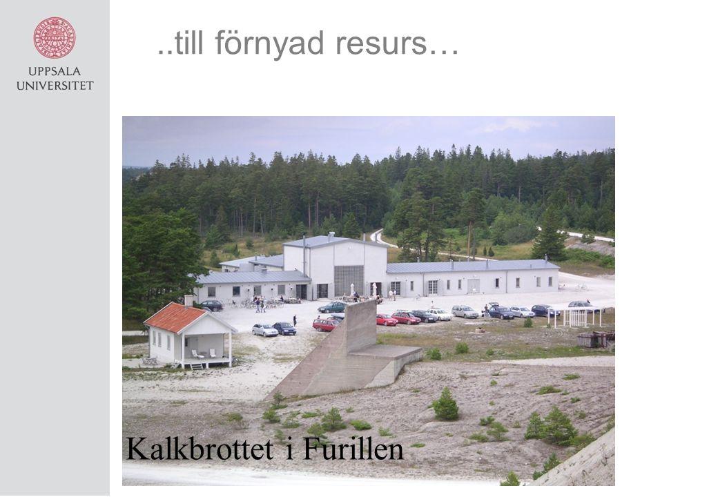 ..till förnyad resurs… Kalkbrottet i Furillen
