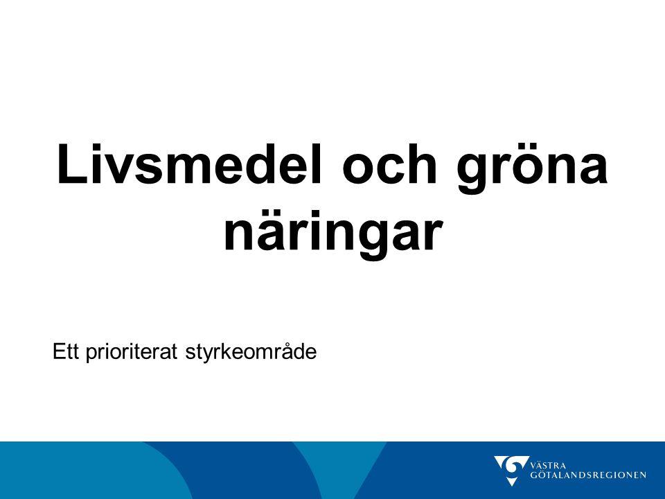 Övergripande mål Västra Götaland ska ha en hållbar livsmedelsförsörjning 2030, där utveckling av livsmedels produktionen och goda matvanor står i fokus