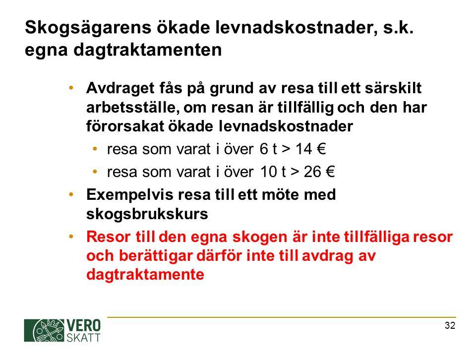 32 Skogsägarens ökade levnadskostnader, s.k.