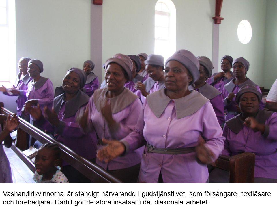 Vashandirikvinnorna är ständigt närvarande i gudstjänstlivet, som försångare, textläsare och förebedjare.