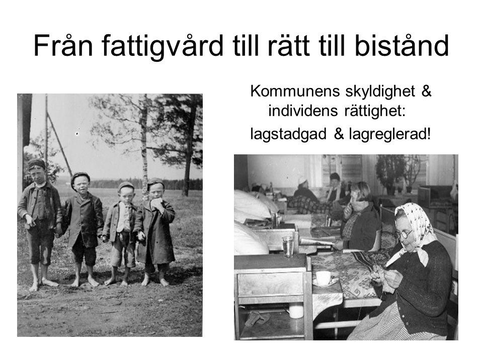 Från fattigvård till rätt till bistånd Kommunens skyldighet & individens rättighet: lagstadgad & lagreglerad!