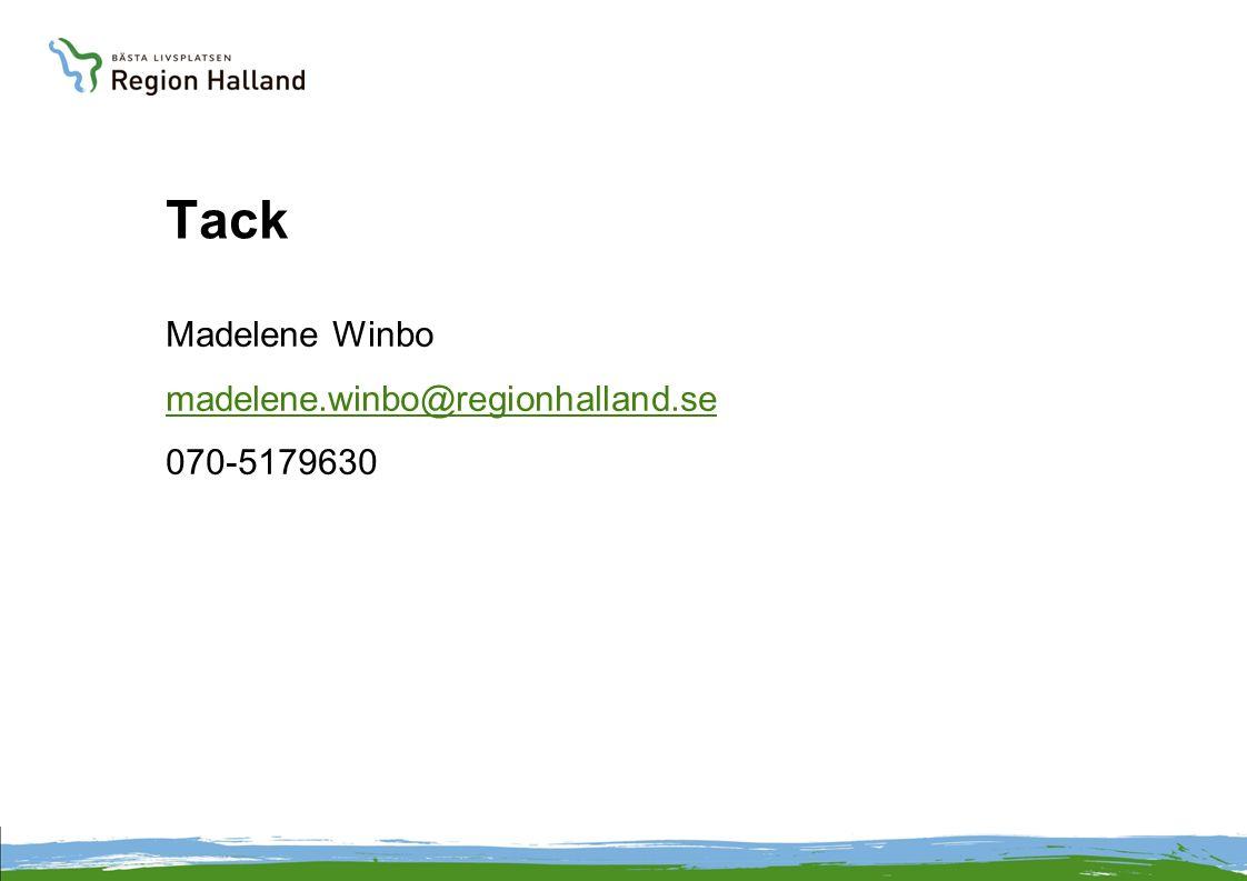Tack Madelene Winbo madelene.winbo@regionhalland.se 070-5179630