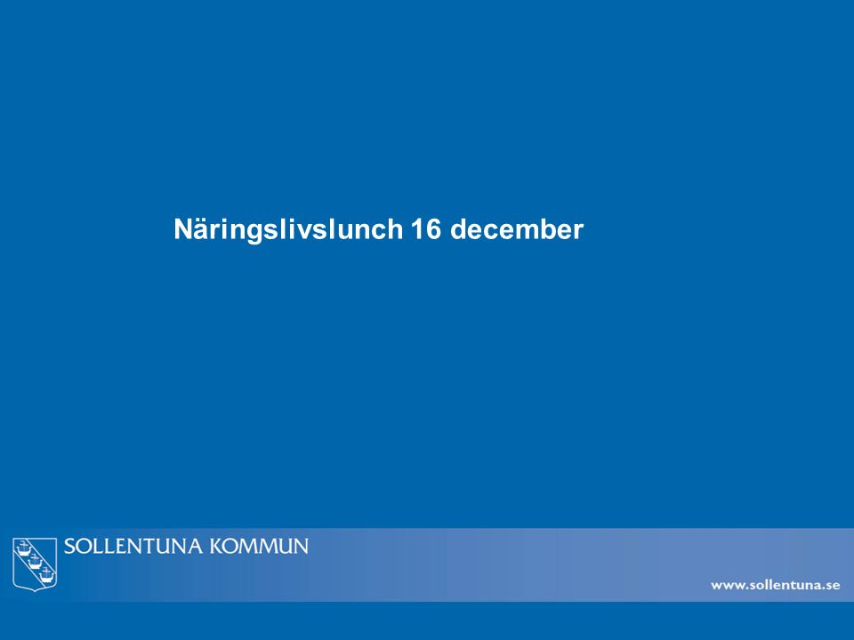 Näringslivslunch 16 december
