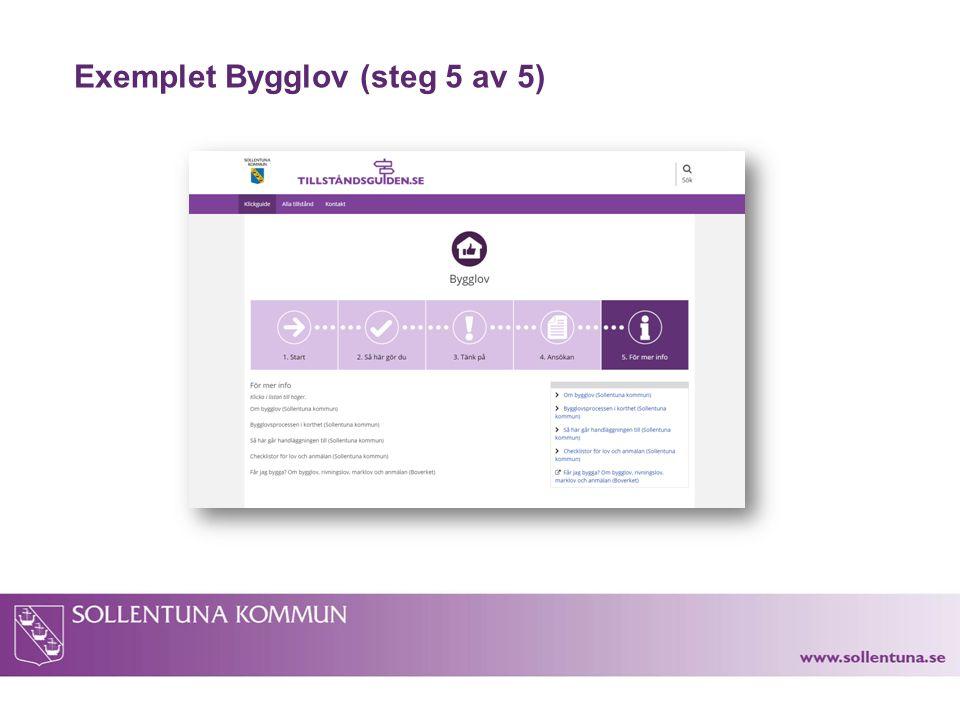 Exemplet Bygglov (steg 5 av 5)