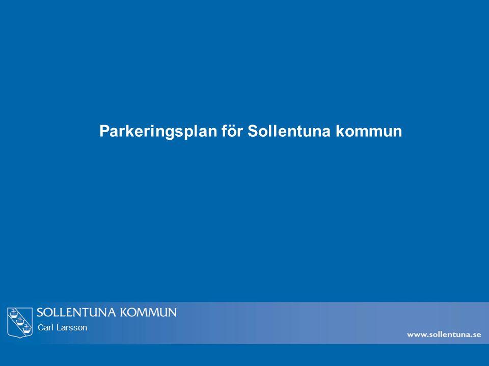 Carl Larsson Parkeringsplan för Sollentuna kommun