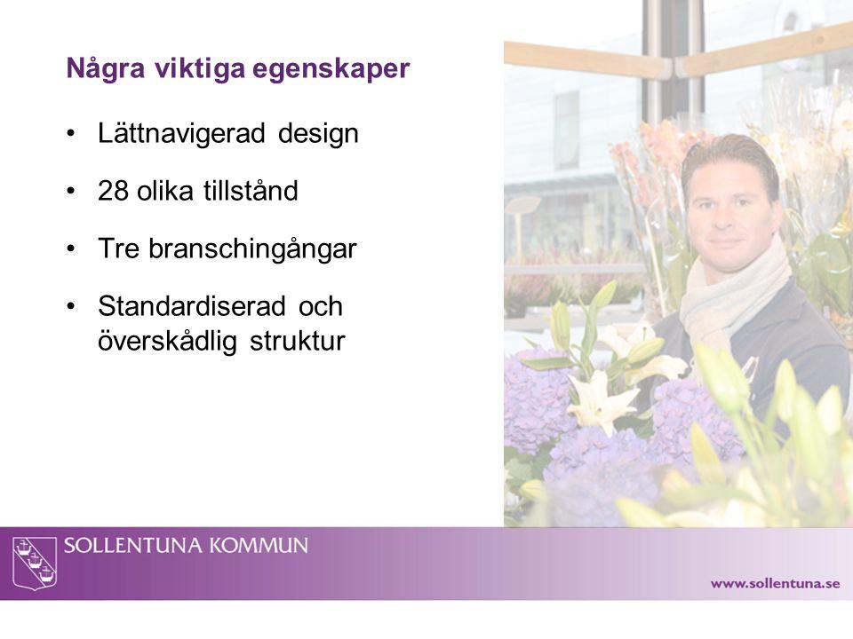 Bakgrund Målet är Sveriges bästa företagsklimat Bra service en av flera pussel- bitar i arbetet för att nå målet Smidiga tillståndsprocesser av stor betydelse Tillståndsguiden – ett verktyg för att förenkla företagandet