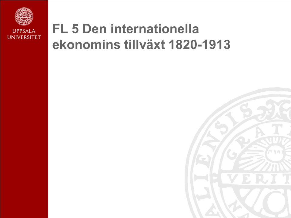 Den internationella ekonomins tillväxt 1820-1913 Utgångspunkter Tillgång och efterfrågan på styr: 1.