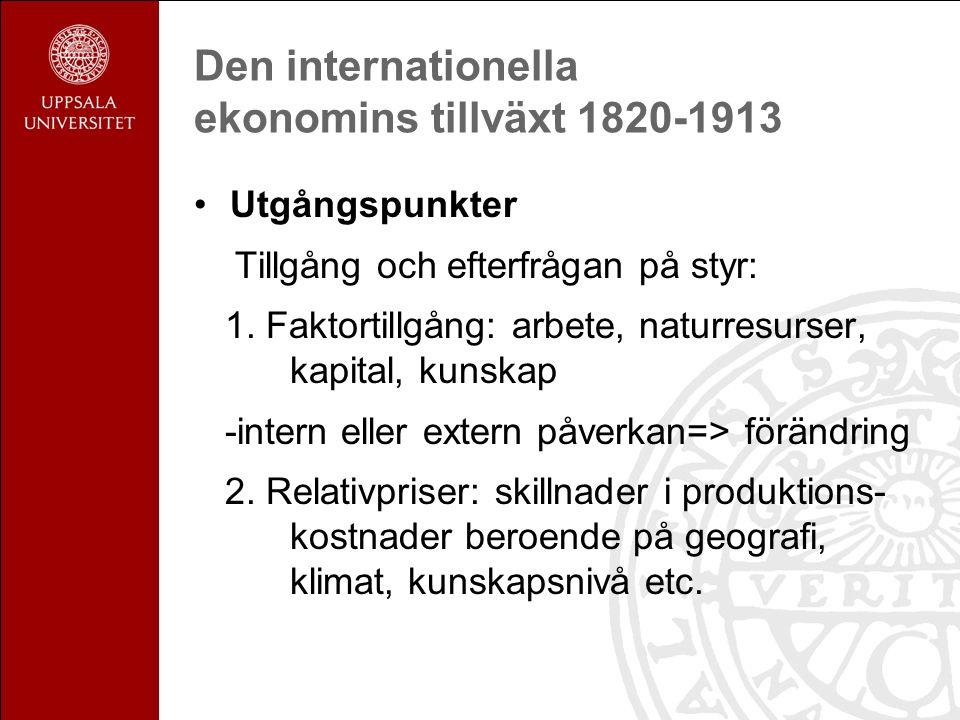 Den internationella ekonomins tillväxt 1820-1913: utvecklingsländerna 1.
