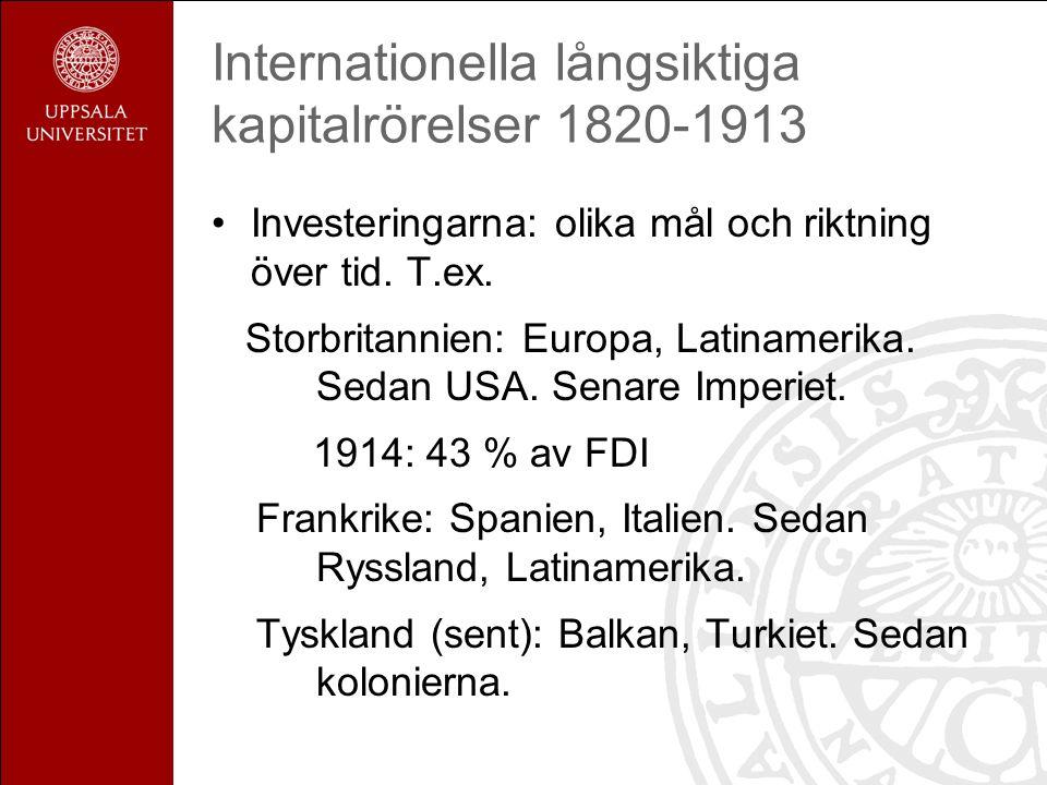 Den internationella ekonomins tillväxt 1820-1913: utrikeshandeln Förändring i sammansättning.