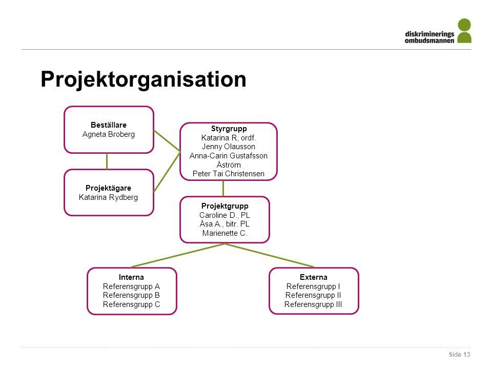 Sida 13 Projektorganisation Styrgrupp Katarina R, ordf.