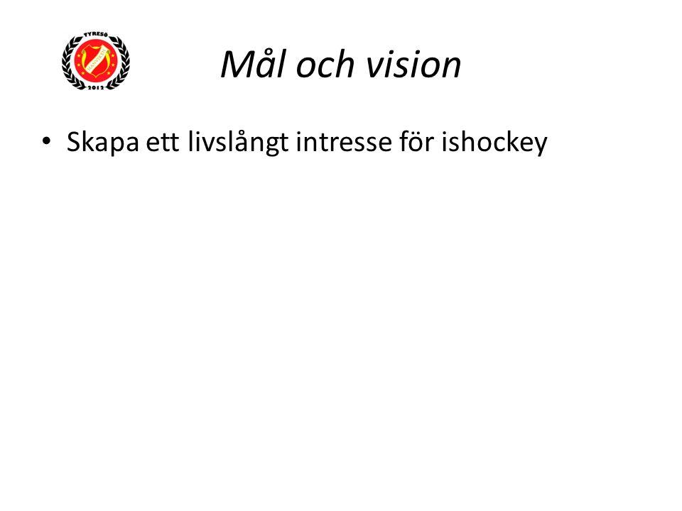Mål och vision Skapa ett livslångt intresse för ishockey