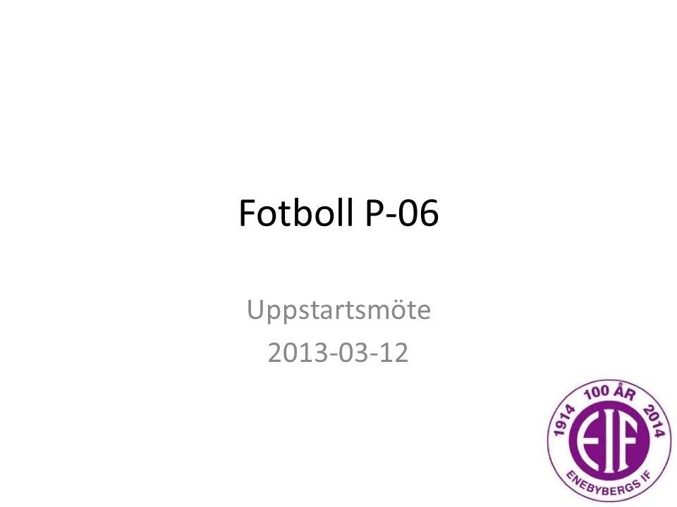 Fotboll P-06 Uppstartsmöte 2013-03-12