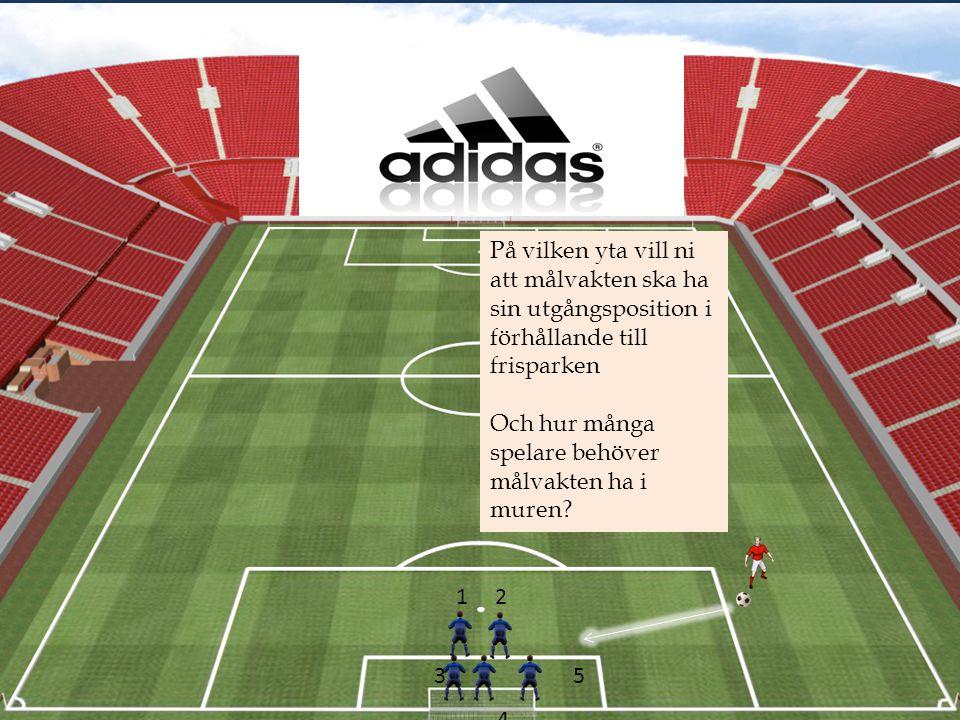 På vilken yta vill ni att målvakten ska ha sin utgångsposition i förhållande till frisparken Och hur många spelare behöver målvakten ha i muren.