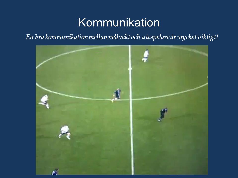 Kommunikation En bra kommunikation mellan målvakt och utespelare är mycket viktigt!