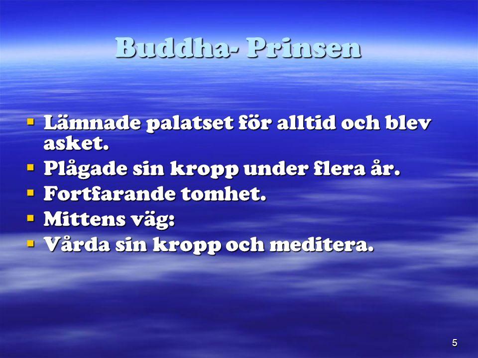 5 Buddha- Prinsen  Lämnade palatset för alltid och blev asket.
