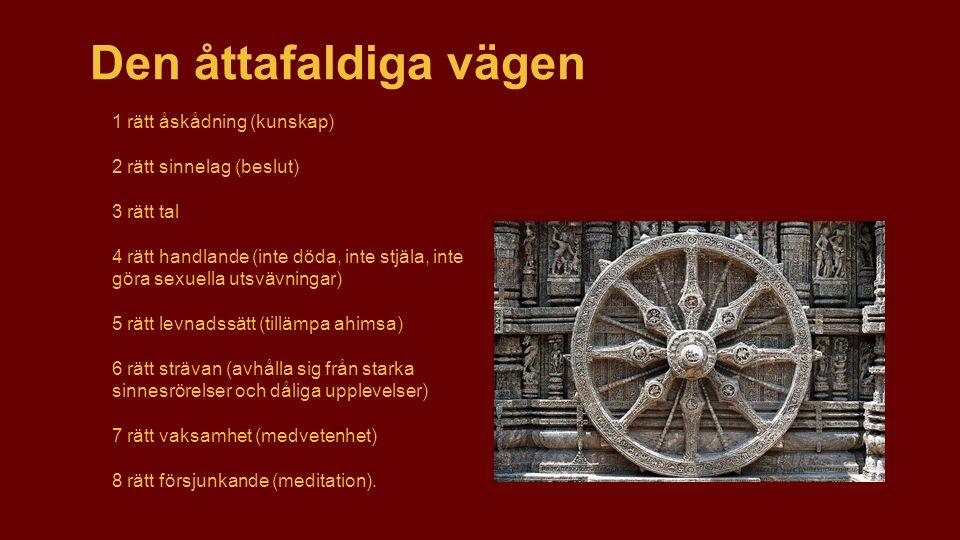 Buddhismens trosuppfattning En buddhist söker sin tillflykt till de tre juvelerna : ●Buddha – den upplyste ●Dharma – hans lära eller väg.