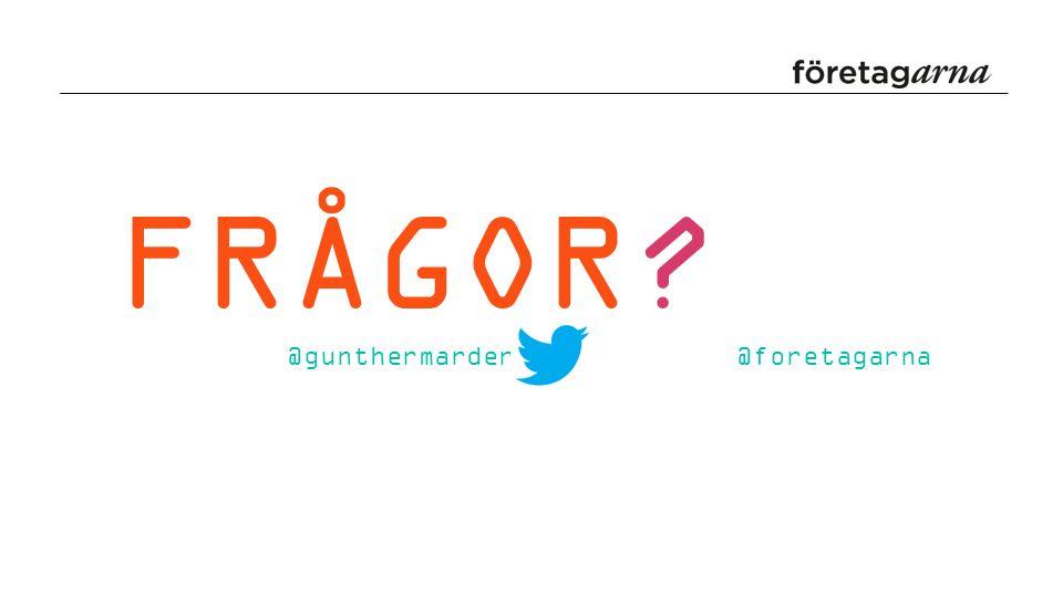 FRÅGOR? @gunthermarder @foretagarna