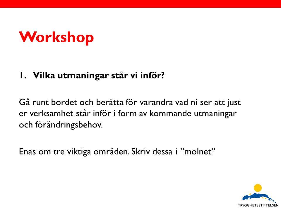 Workshop 1.Vilka utmaningar står vi inför.