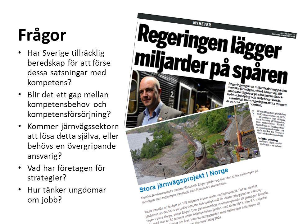 Har Sverige tillräcklig beredskap för att förse dessa satsningar med kompetens.