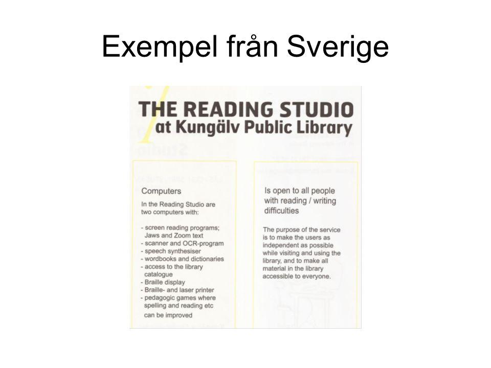 Exempel från Sverige