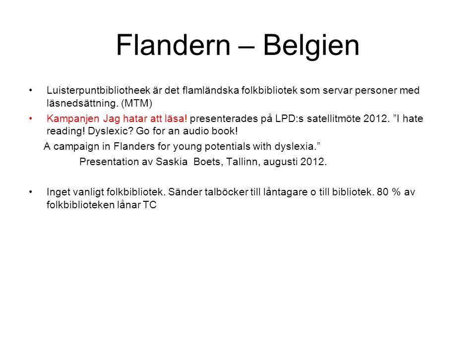 Flandern – Belgien Luisterpuntbibliotheek är det flamländska folkbibliotek som servar personer med läsnedsättning.