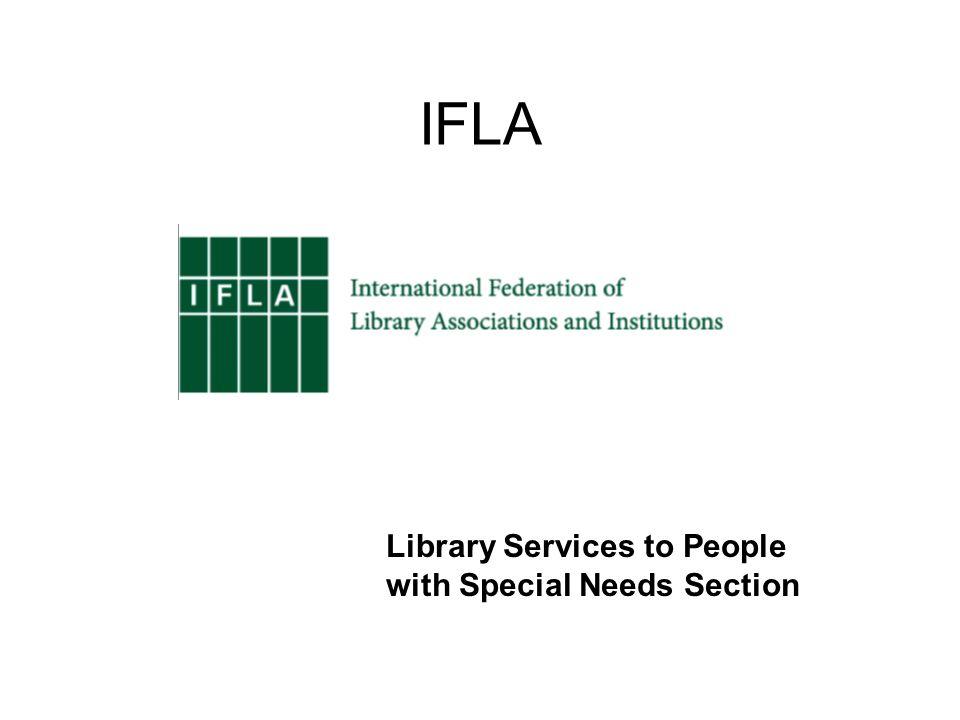 Riktlinjerna är framtagna av: Ett samarbetsprojekt mellan IFLA Sections: Library Services to People with Special Needs (LSN) and Libraries Serving Persons with Print Disabilities (LPD) IFLA, 2014 Saskia Boets, Helle Mortensen, Koen Krikhaar, Misako Nomura, Mieke Urff