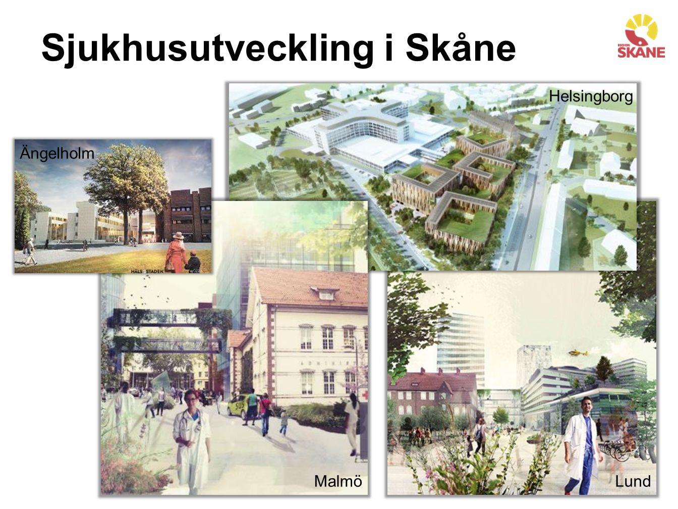 Sjukhusutveckling i Skåne MalmöLund Helsingborg Ängelholm Varje sjukhus förkroppsligar sin tids vårdfilosofi.