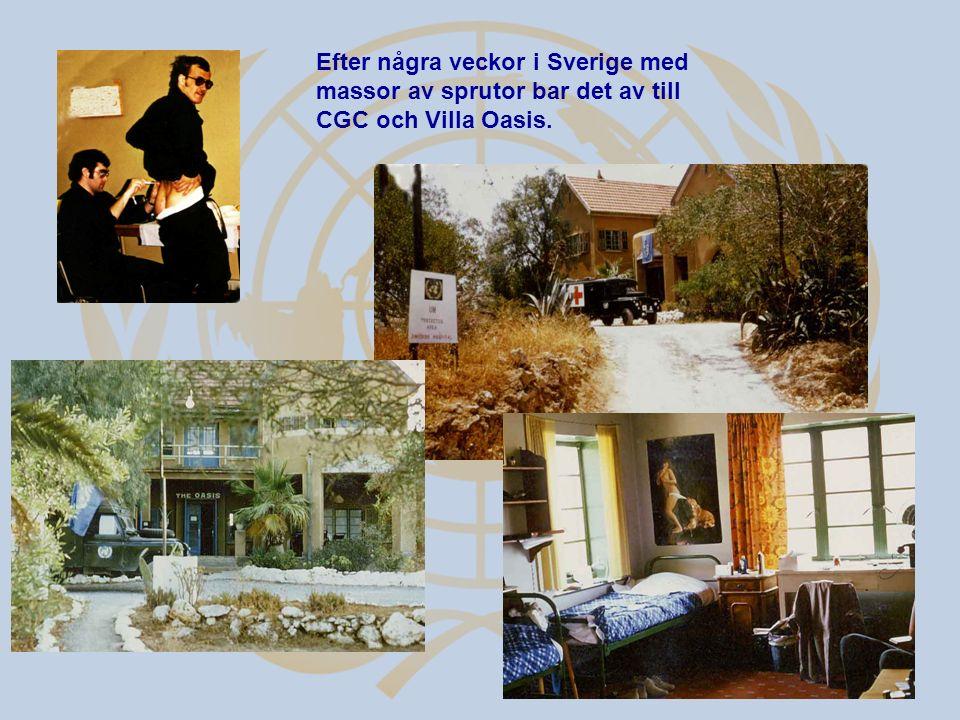 Efter några veckor i Sverige med massor av sprutor bar det av till CGC och Villa Oasis.