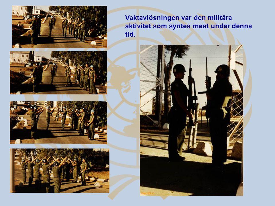 Vaktavlösningen var den militära aktivitet som syntes mest under denna tid.