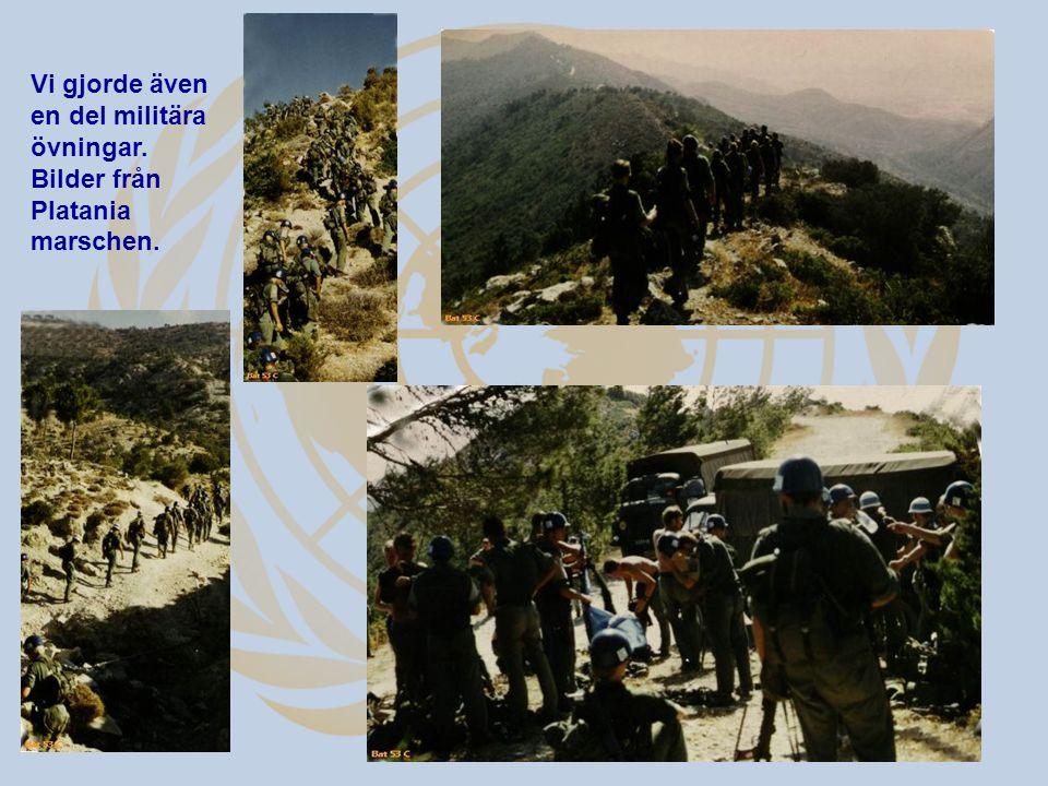 Vi gjorde även en del militära övningar. Bilder från Platania marschen.