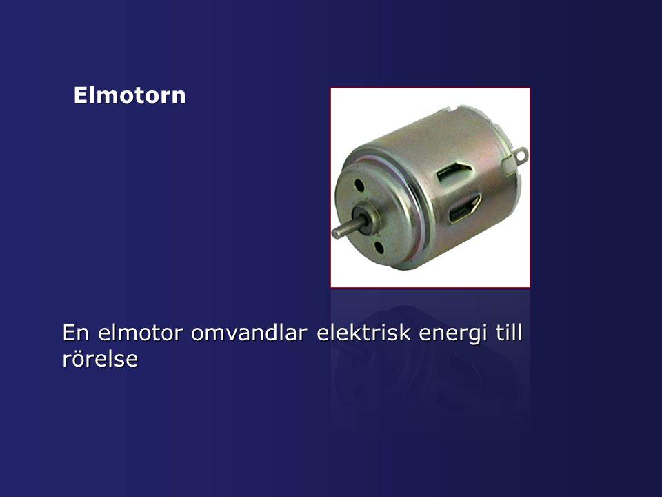 Elmotorn En elmotor omvandlar elektrisk energi till rörelse