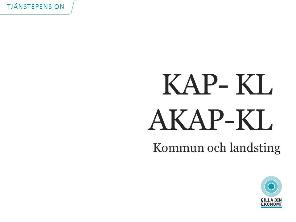 TJÄNSTEPENSION Kommun och landsting KAP- KL AKAP-KL