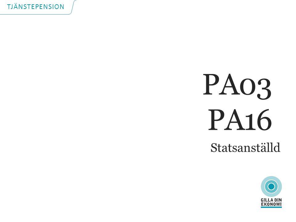 TJÄNSTEPENSION Statsanställd PA03 PA16