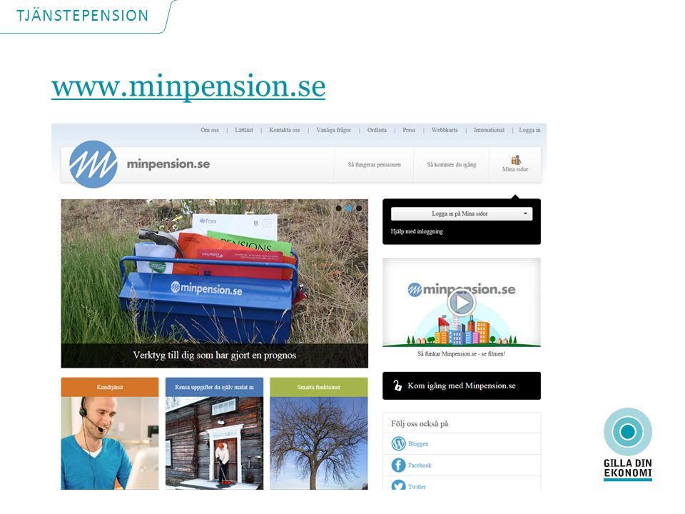 TJÄNSTEPENSION www.minpension.se