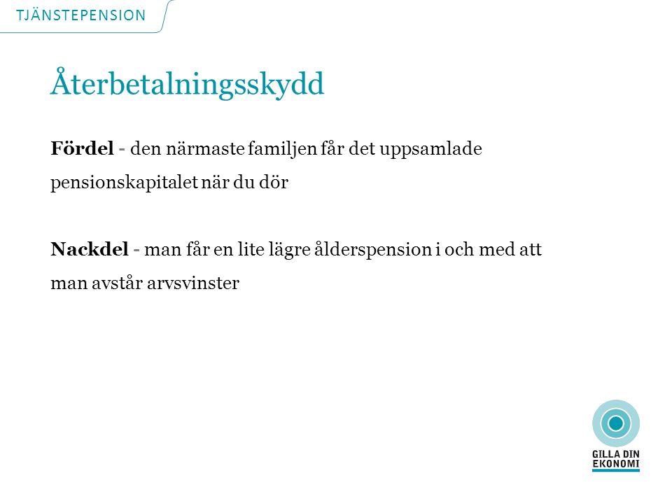 TJÄNSTEPENSION Pensionsguiden www.konsumenternas.se