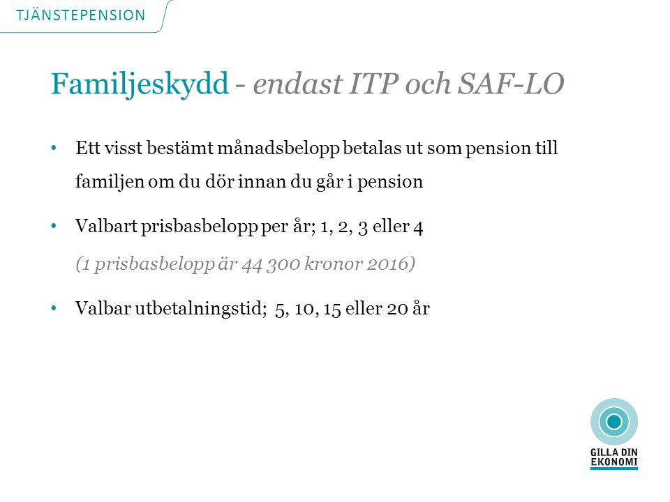 TJÄNSTEPENSION Sofia – privatanställd tjänsteman Ingångslön vid 25 års ålder: 26 500 kr/mån Normal inkomstutveckling Jobbar fram till 65 års ålder
