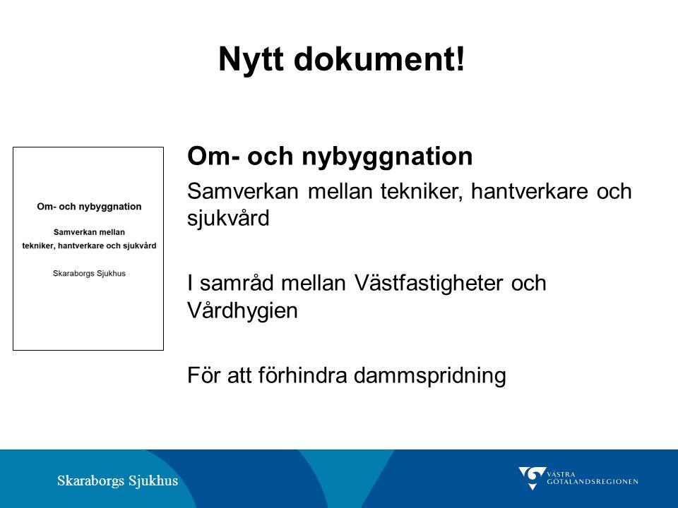 Skaraborgs Sjukhus Nytt dokument.