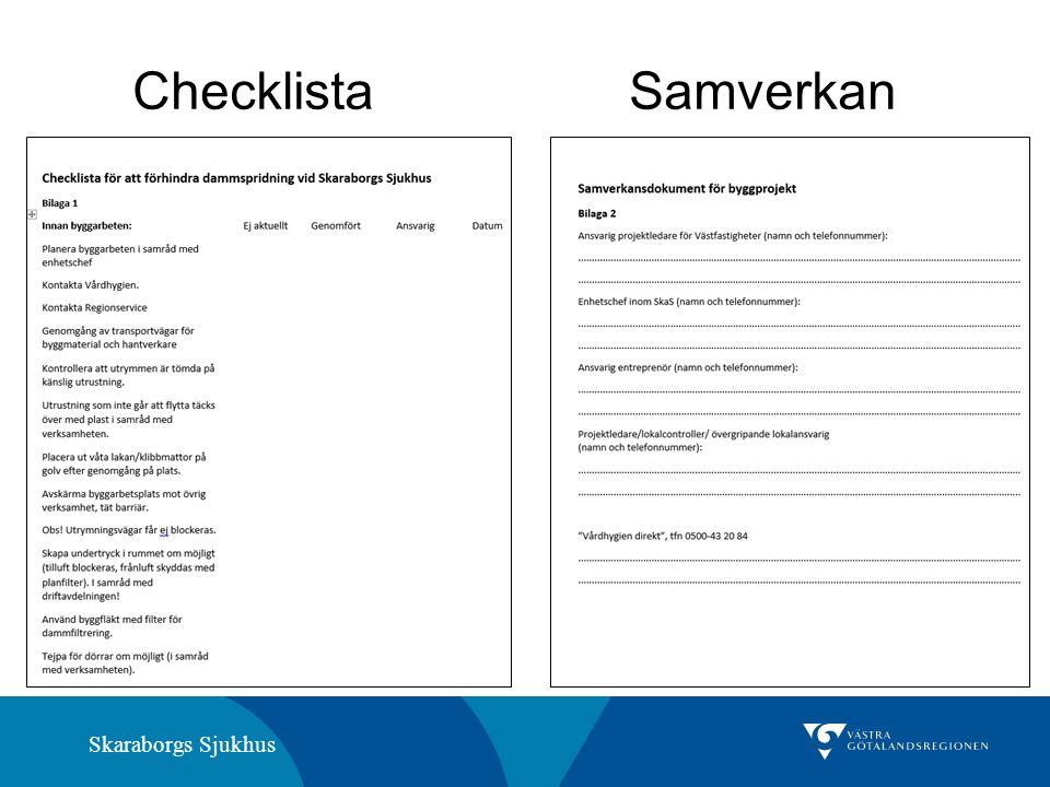Skaraborgs Sjukhus Checklista Samverkan