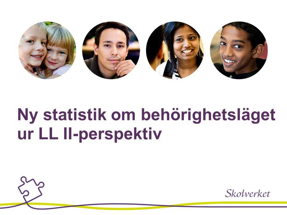 Ny statistik om behörighetsläget ur LL II-perspektiv