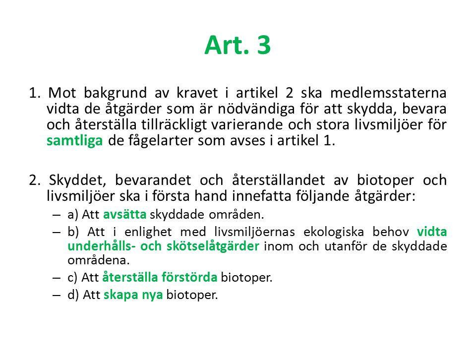 Art.4.1 och 4.2 (Natura 2000-nätverket) 1.