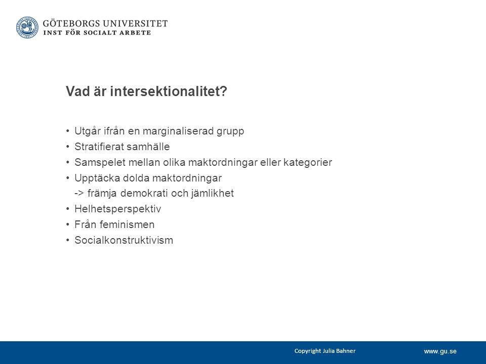 www.gu.se Vad är intersektionalitet.
