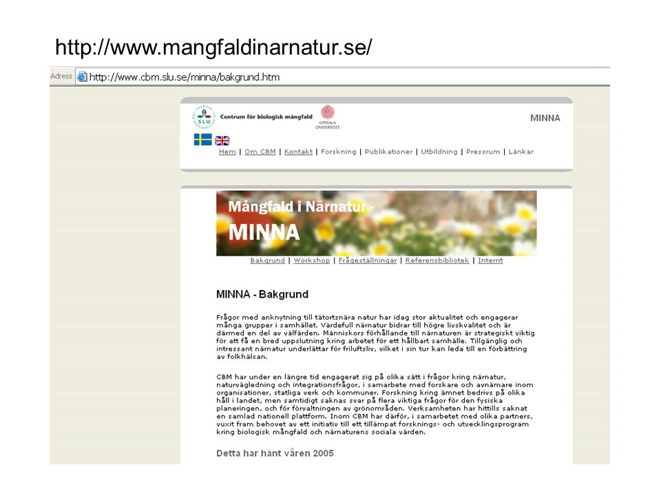http://www.mangfaldinarnatur.se/