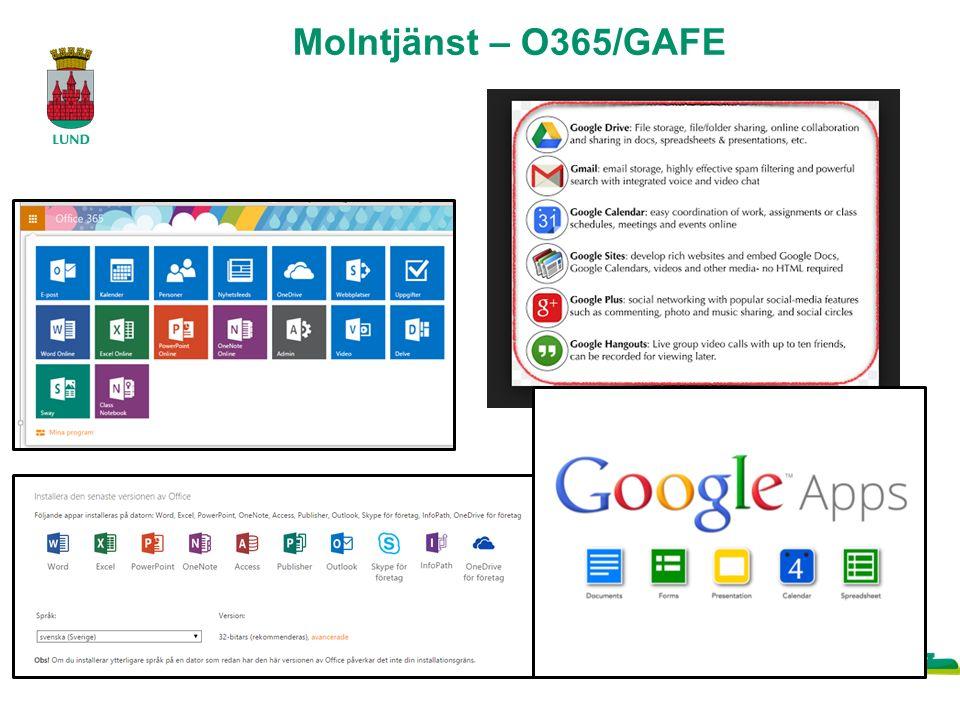 Molntjänst – O365/GAFE