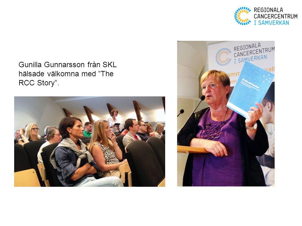 Gunilla Gunnarsson från SKL hälsade välkomna med The RCC Story .