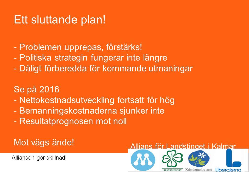 Allians för Landstinget i Kalmar län Alliansen gör skillnad.