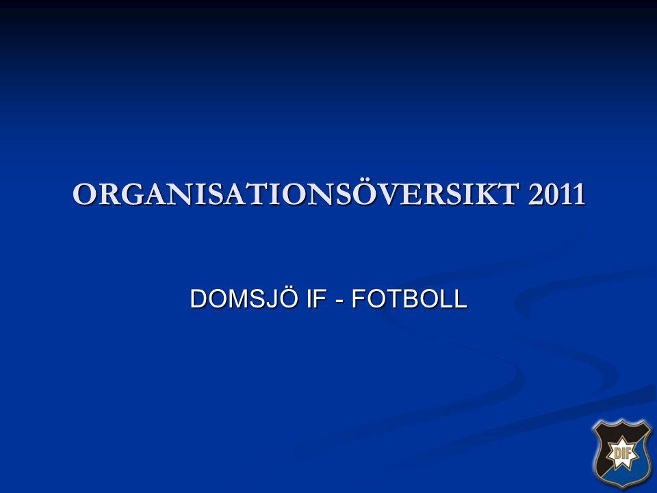 ORGANISATIONSÖVERSIKT 2011 DOMSJÖ IF - FOTBOLL