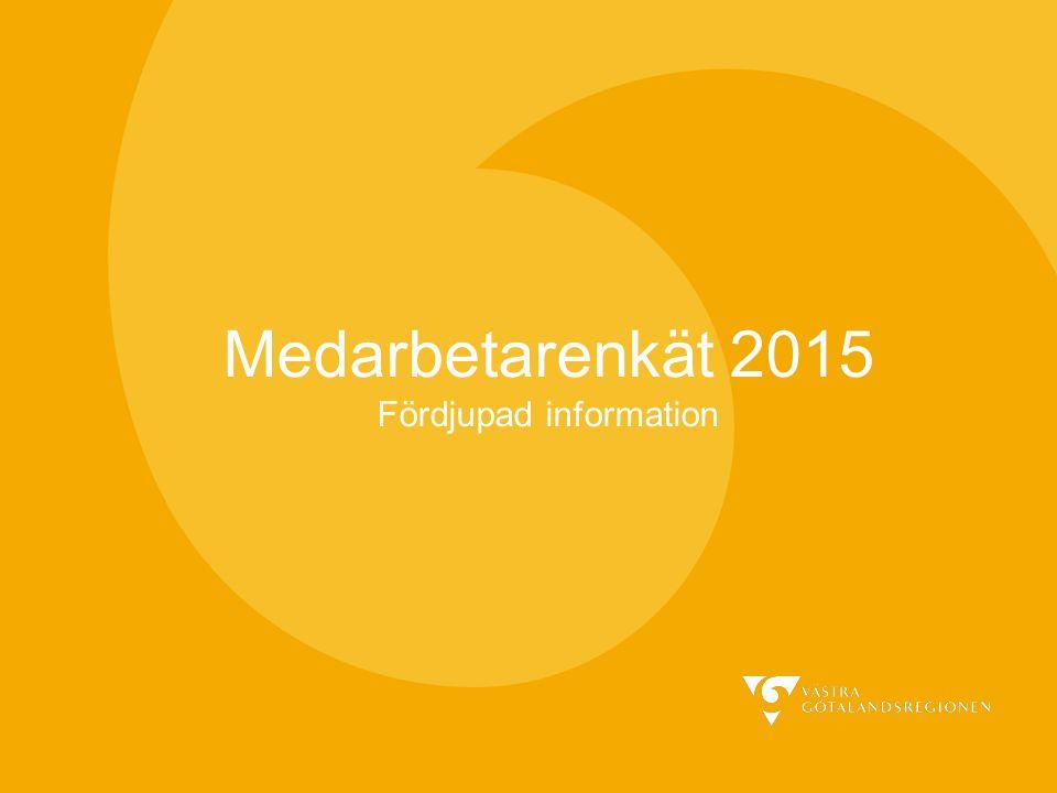 Medarbetarenkät 2015 Fördjupad information