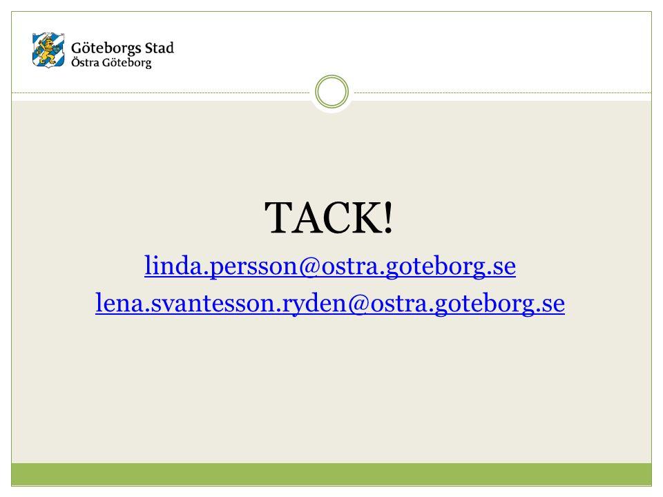 TACK! linda.persson@ostra.goteborg.se lena.svantesson.ryden@ostra.goteborg.se